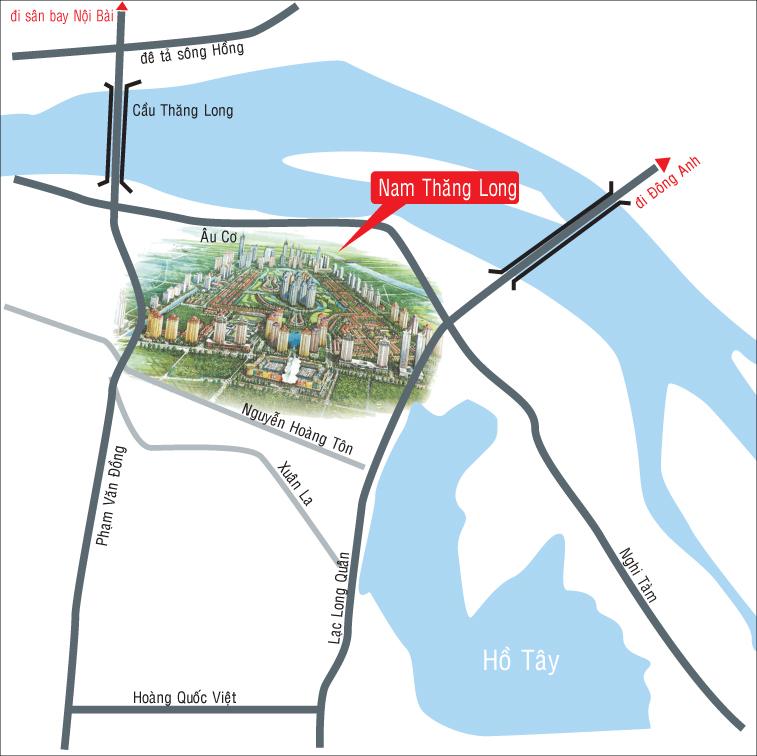 Vị trí dự án Chung cư The Link 345 Ciputra