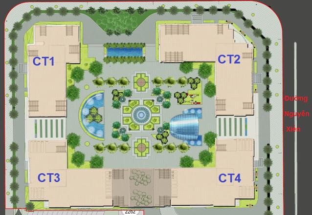 Mặt bằng tổng quan dự án chung cư Eco Green City