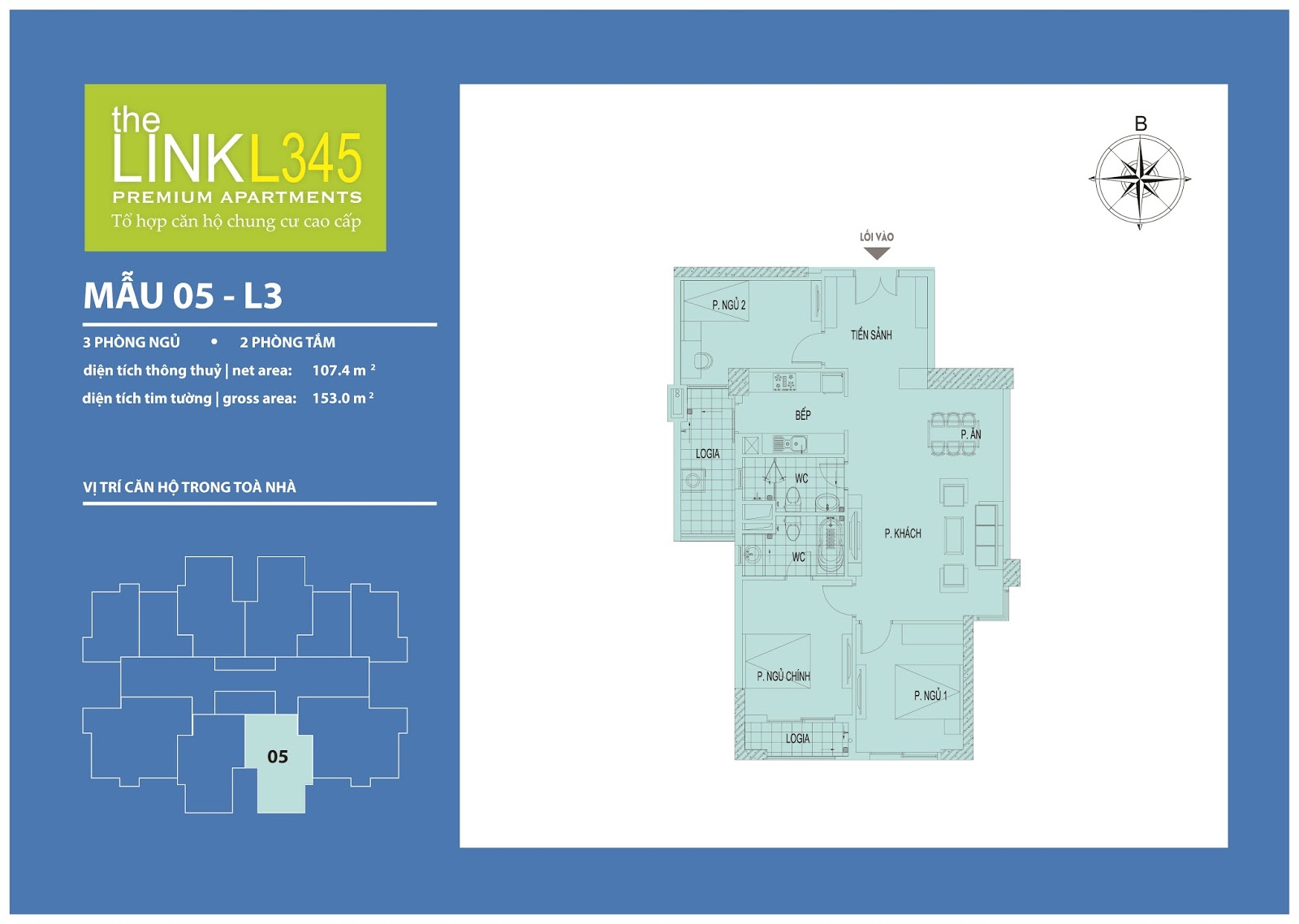 Mặt bằng chi tiết căn hộ 05 - L3