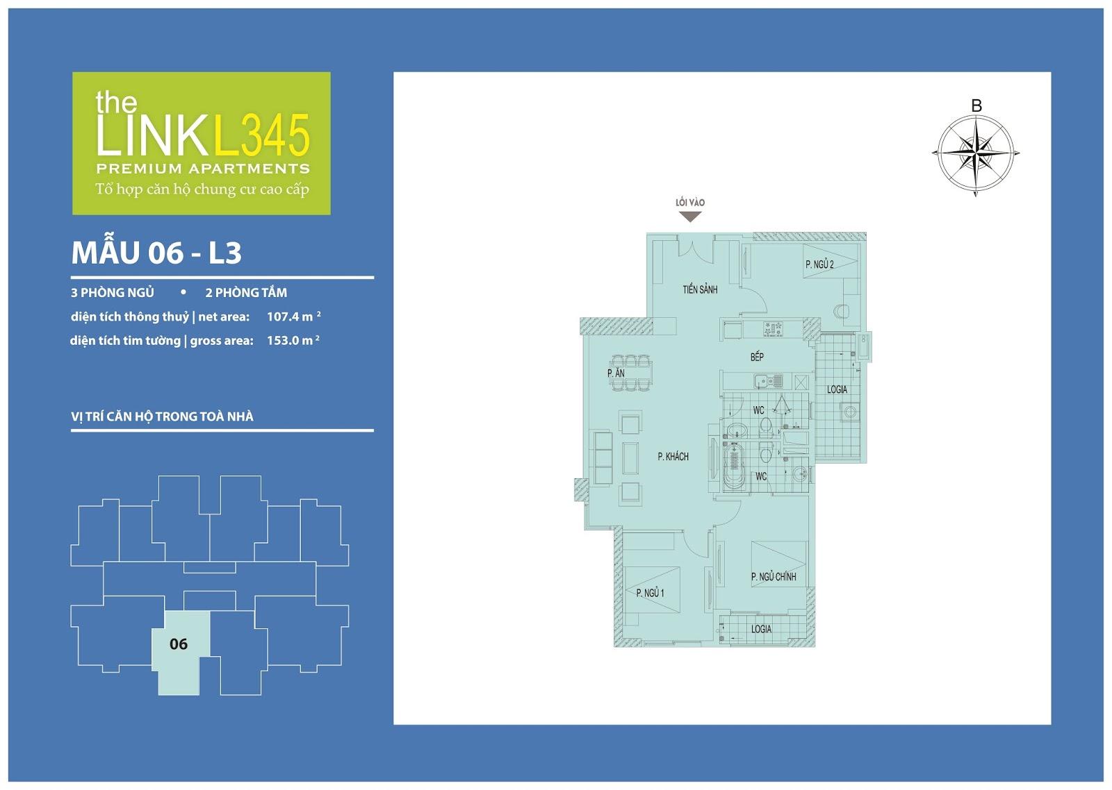 Mặt bằng chi tiết căn hộ 06 - L3