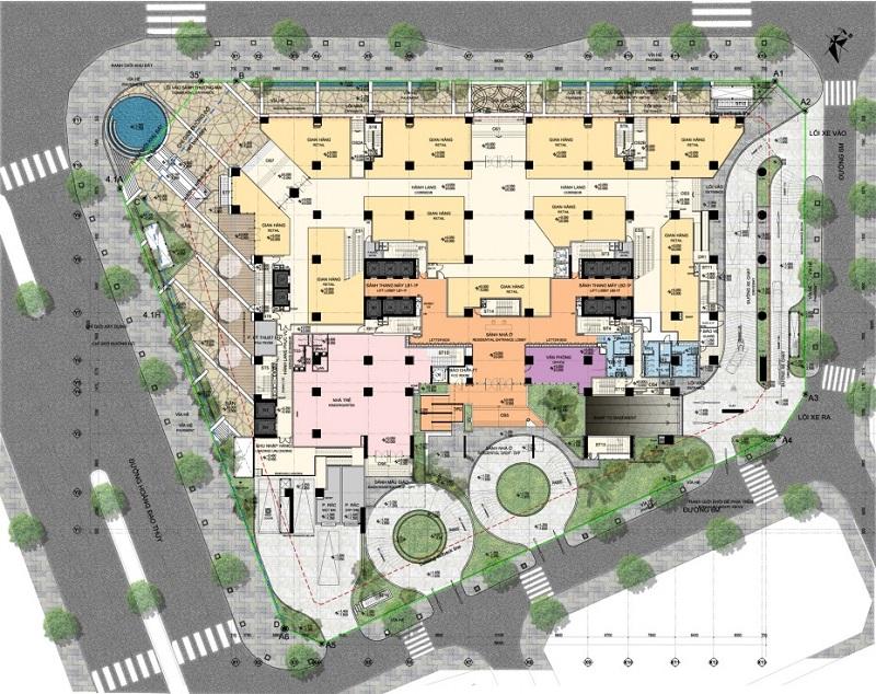 Thiết kế sàn tầng 1 Chung cư BRG Park Residence 25 Lê Văn Lương