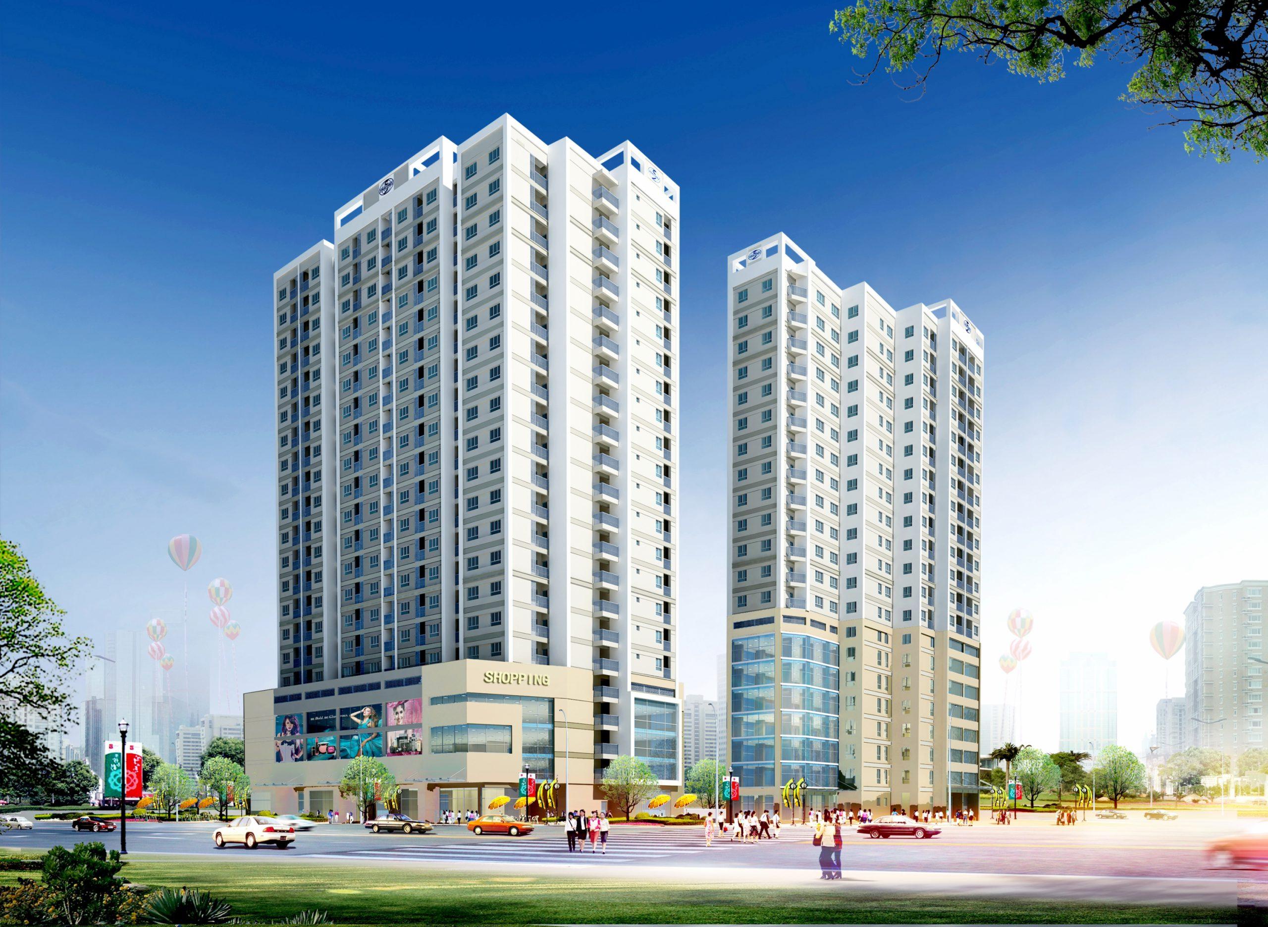 Phối cảnh dự án chung cư 536A Minh Khai
