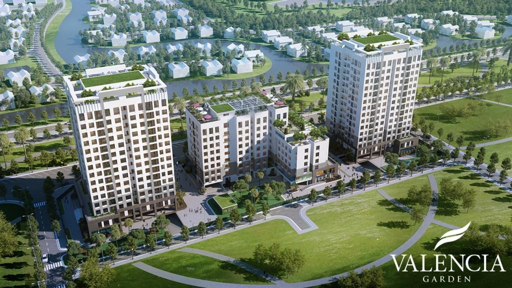 Phối cảnh dự án Chung cư Valencia Garden Việt Hưng
