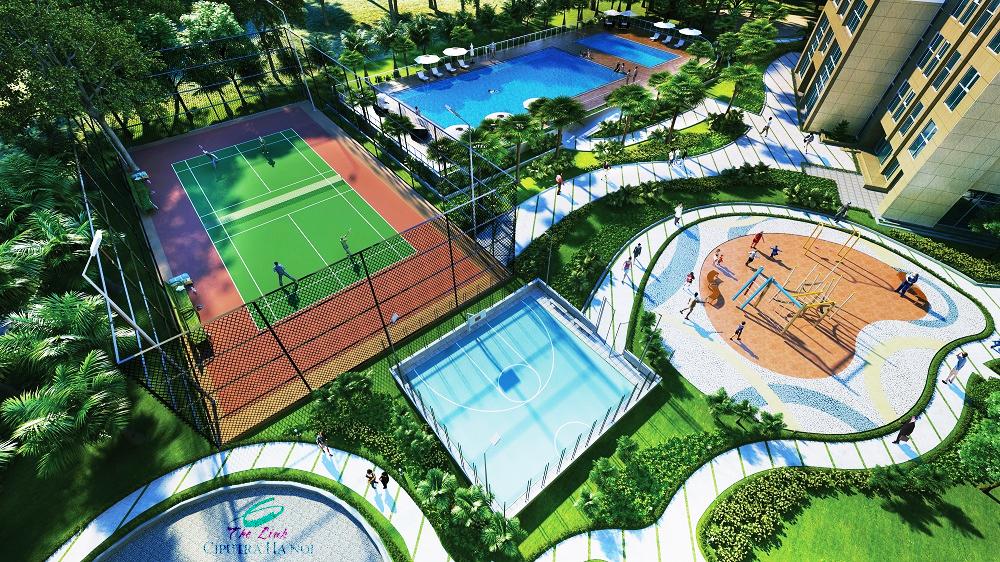 Sân tennis Chung cư The Link 345 Ciputra