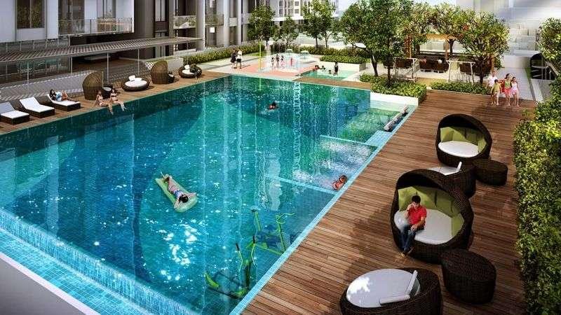 Tiện ích bể bơi chung cư Mipec Kiến Hưng