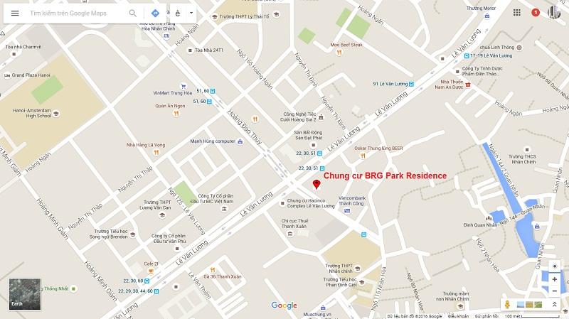 Vị trí Chung cư BRG Park Residence 25 Lê Văn Lương
