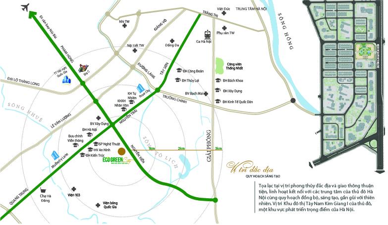 Vị trí dự án chung cư Eco Green City