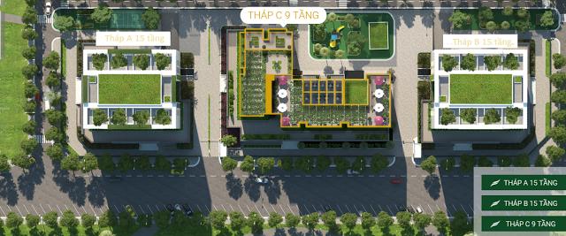 Vị trí tháp C Chung cư Valencia Garden Việt Hưng