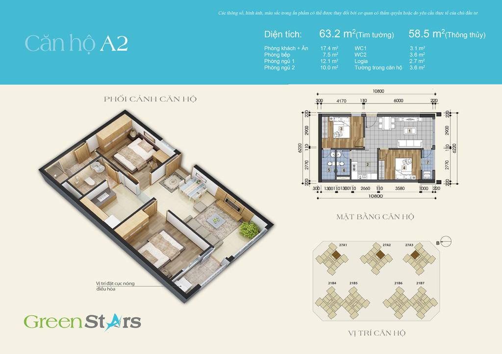 Phối cảnh căn hộ A2