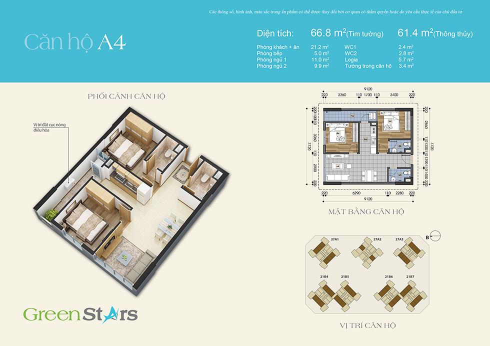Phối cảnh căn hộ A4