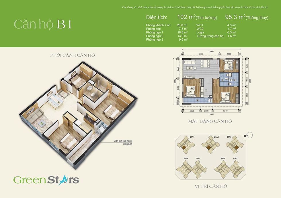 Phối cảnh căn hộ B1
