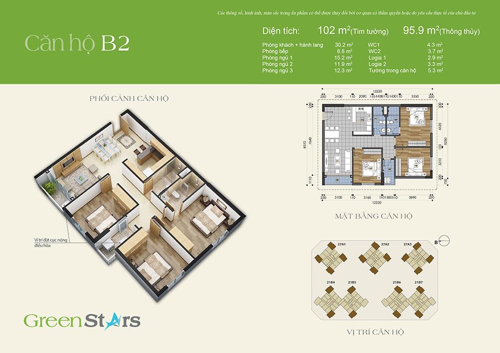 Phối cảnh căn hộ B2