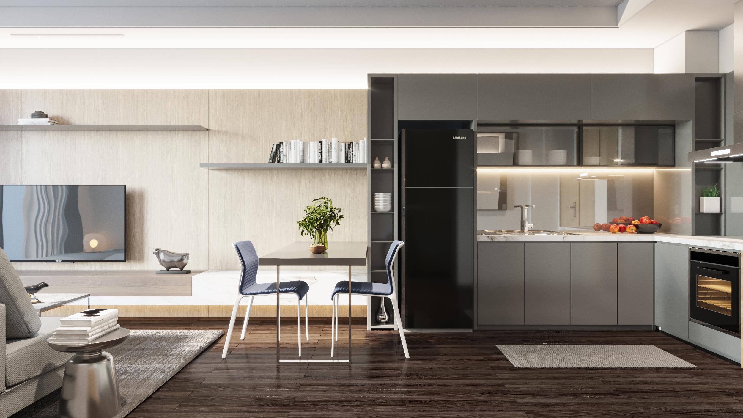 Phòng khách chung cư Chelsea Residences