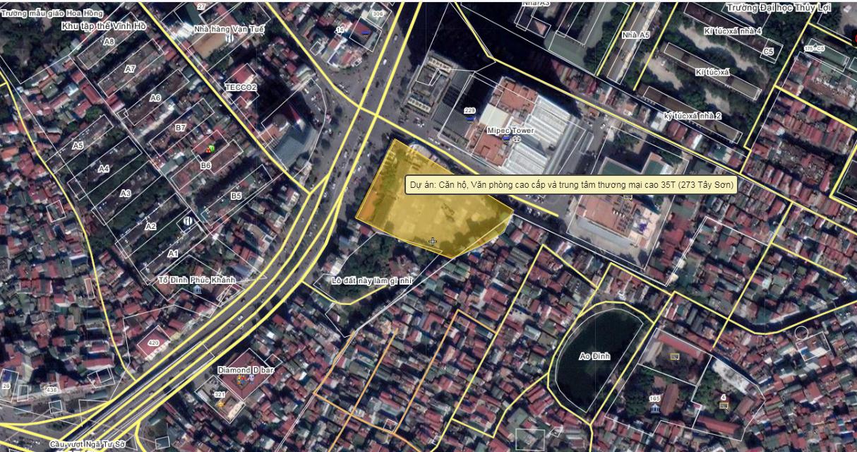 Vị trí dự án chung cư 273 Tây Sơn