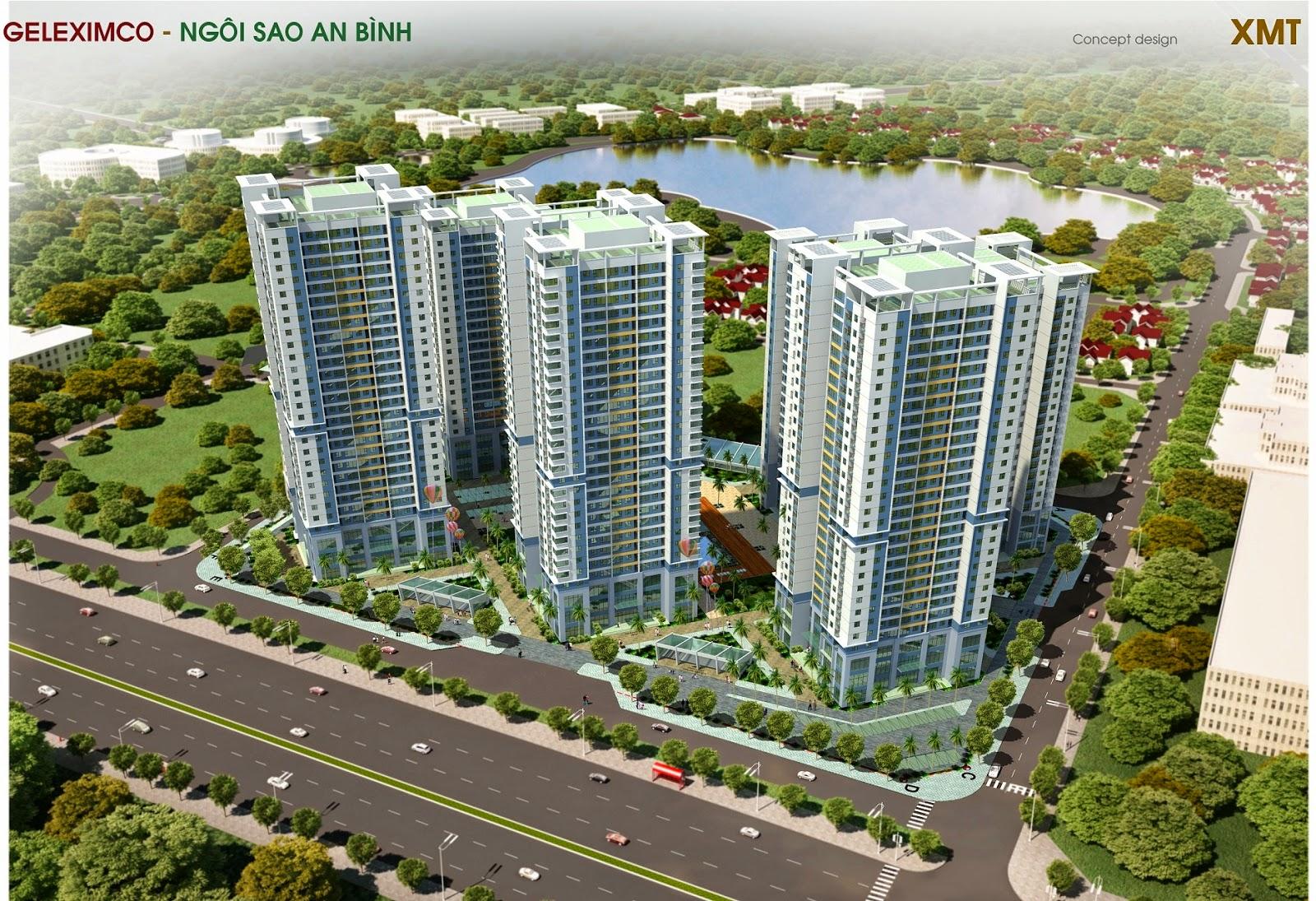 Phối cảnh tổng thể dự án chung cư Green Stars
