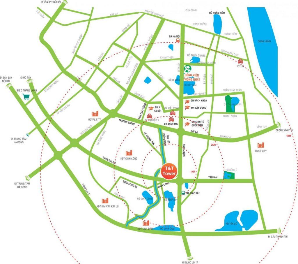 Vị trí đắc địa Tổ hợpDự án Chung cư 120 Định Công