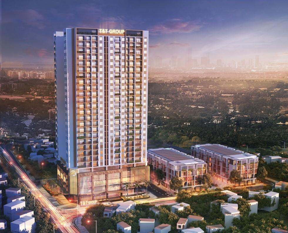 Phối cảnh dự án chung cư 120 Định Công