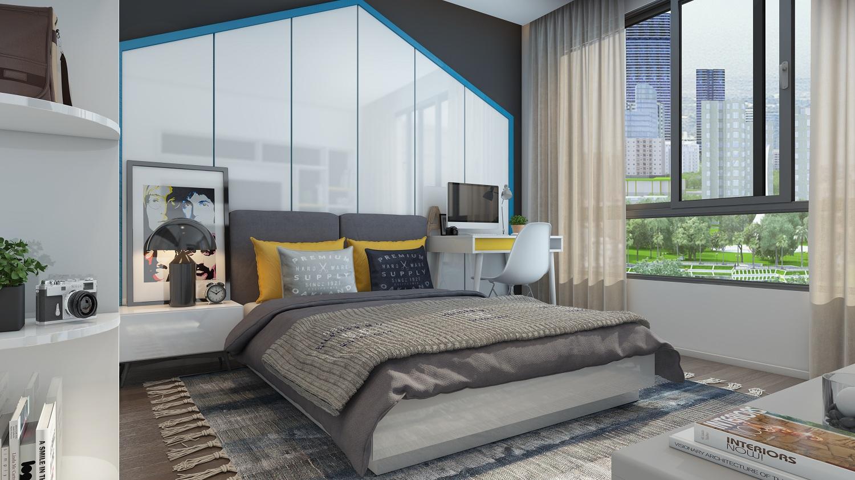 Phòng ngủ chung cư E2 Yên Hòa
