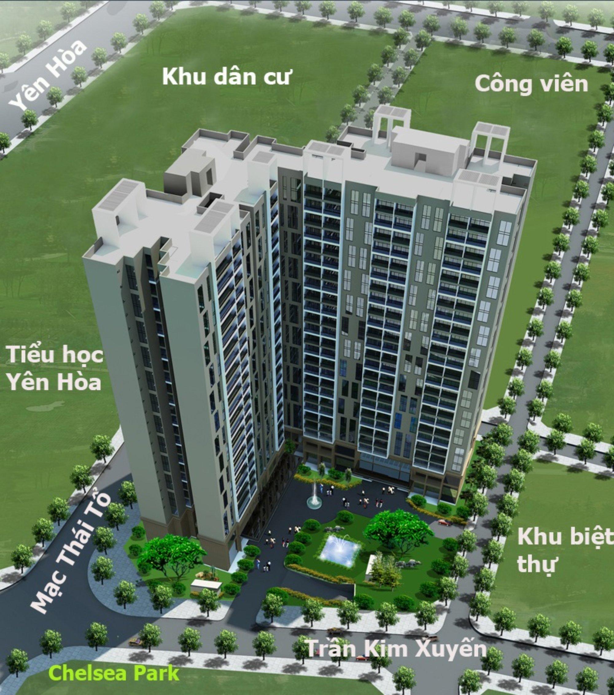 Phối cảnh dự án Chung Cư Chelsea Residences