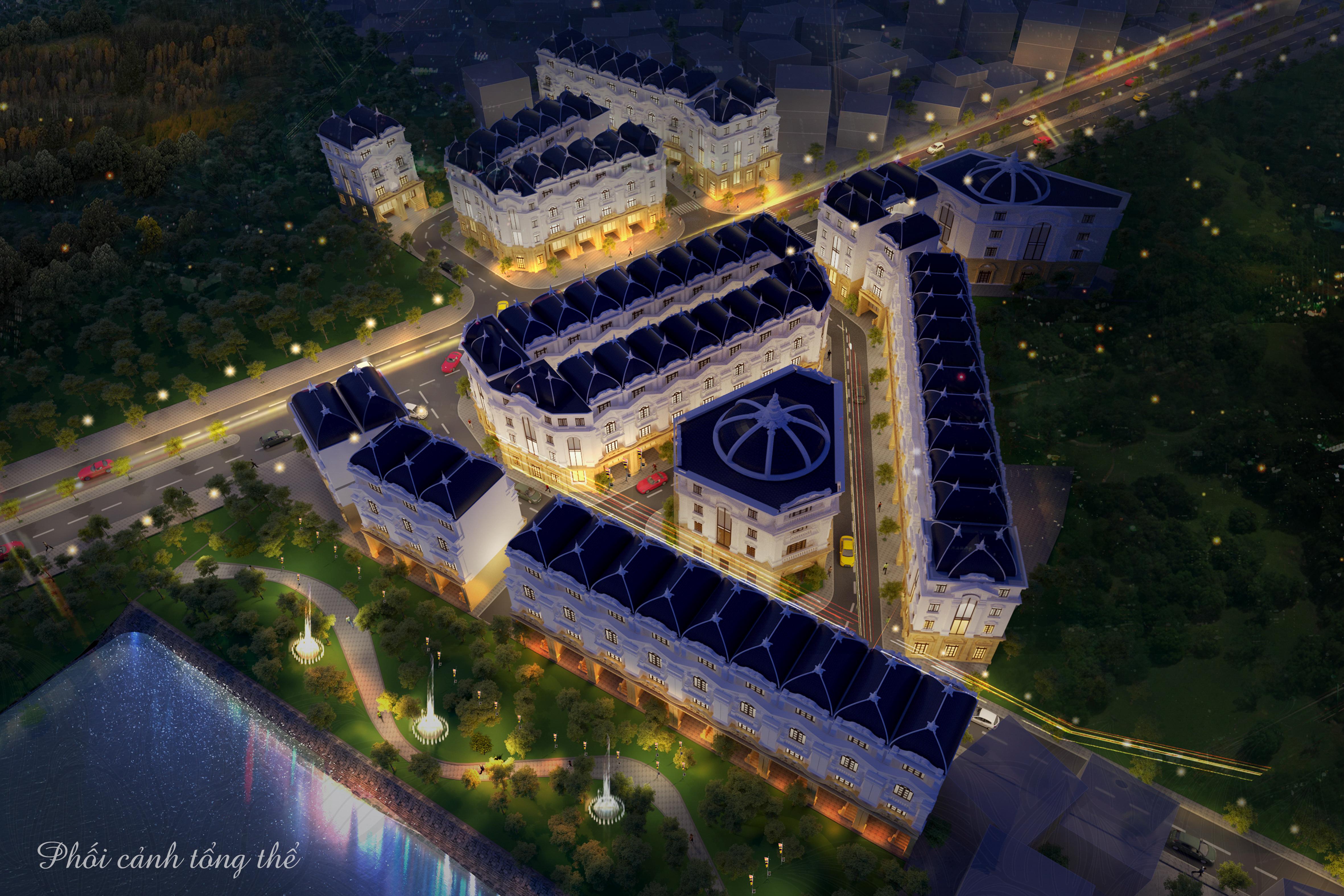 Phối cảnh tổng thể dự án Hoàng Cầu Riverside