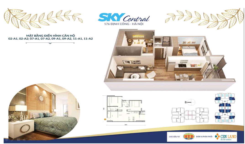 Thiết kế căn hộ 2 ngủ 2 wc Diện tích 66 m2