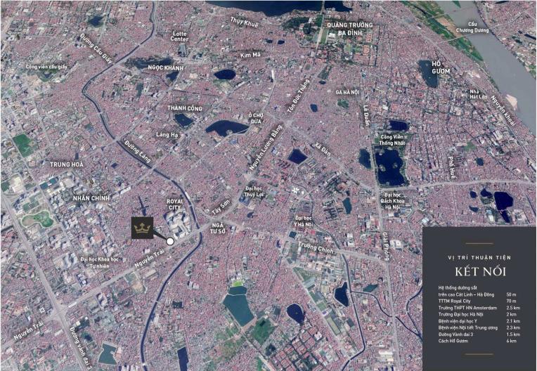 Bản đồ dự án King Place