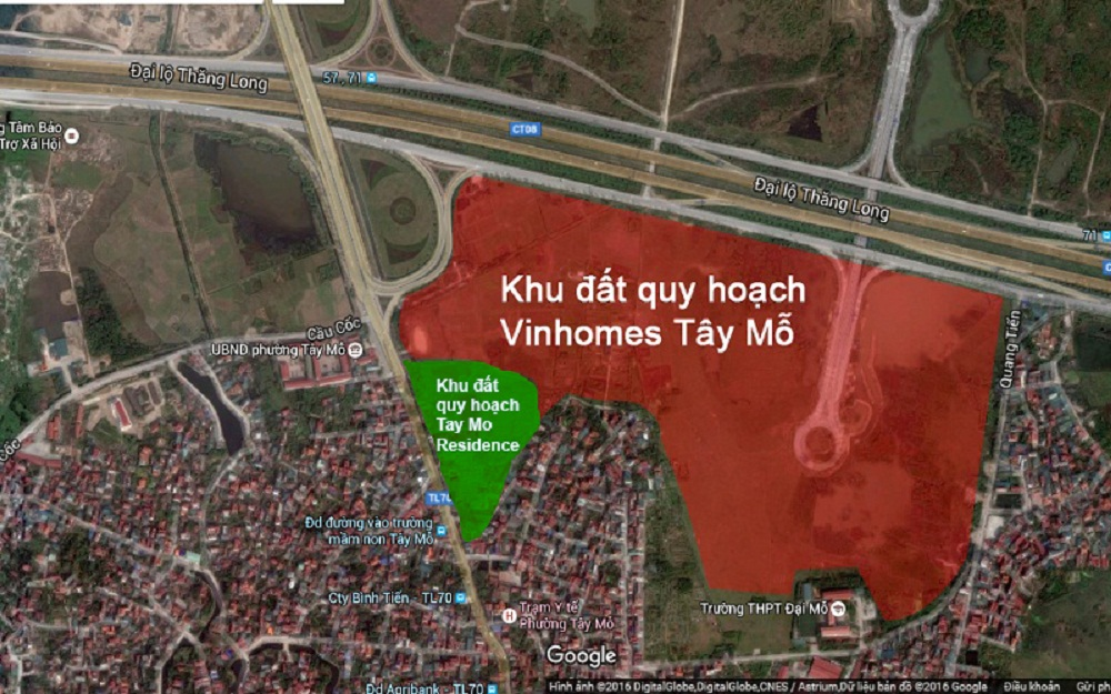 Chi tiết về vị trí của dự án Tây Mỗ Residence