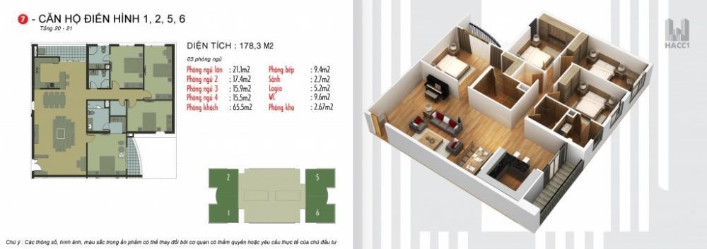 Thiết kế căn hộ 1,2,5,6 tầng 20-21 chung cư N03T5 Ngoại Giao Đoàn