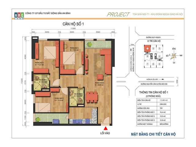 Thiết kế căn hộ số 1