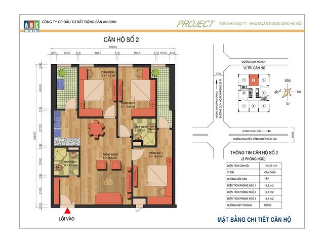 Thiết kế căn hộ số 2