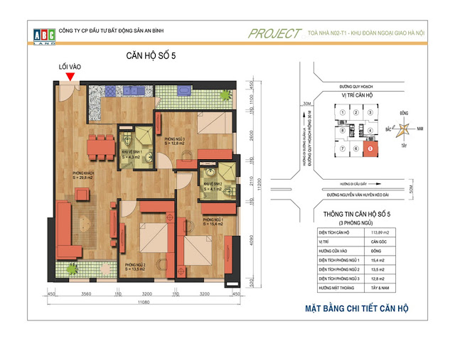 Thiết kế căn hộ số 5 N02T1 Ngoại Giao Đoàn
