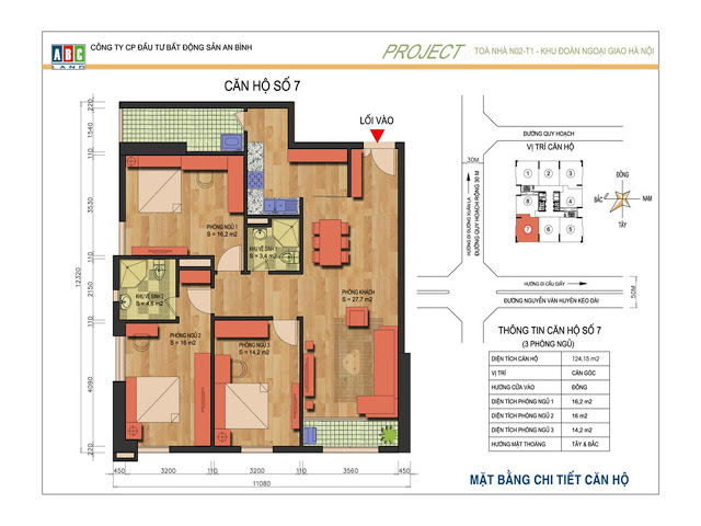 Thiết kế căn hộ số 7 N02T1 Ngoại Giao Đoàn