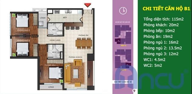 Căn số 03 - Diện tích 115 m2
