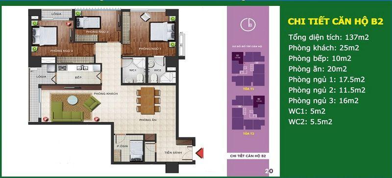 Căn số 05 - Diện tích 137 m2 - N04b Ngoại Giao Đoàn
