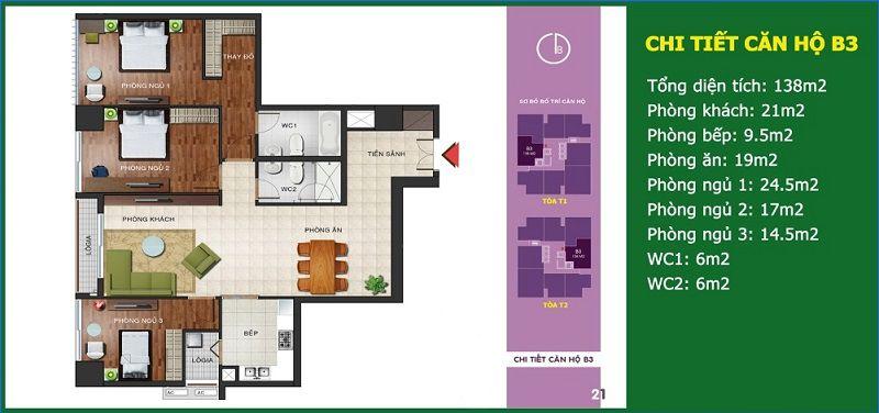 Căn số 04 - Diện tích 138 m2 - N04b Ngoại Giao Đoàn