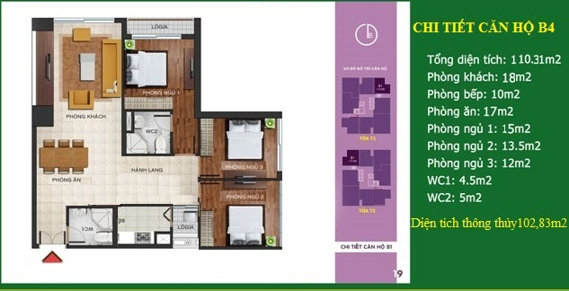 Căn số 07 - Diện tích 110 m2