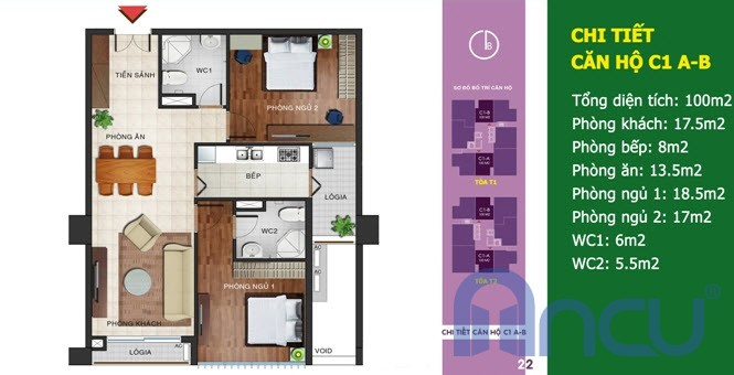 Căn số 02 - Diện tích 100 m2