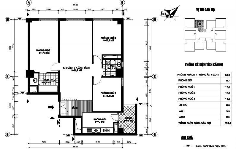 Thiết kế căn hộ 05 chung cư N03T1 Ngoại Giao Đoàn