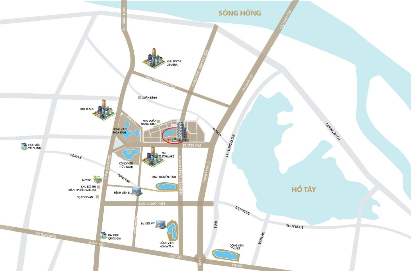 Vị trí dự án Phú Mỹ Complex
