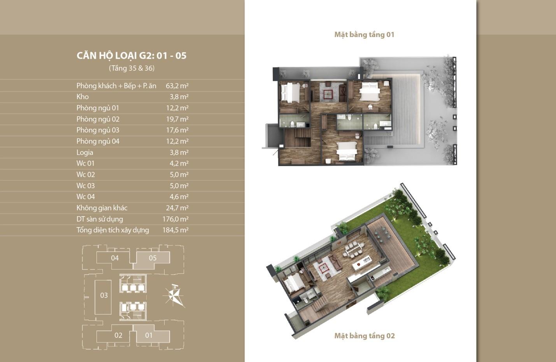 Thiết kế căn hộ 01 - 05 tầng 35 vs 36