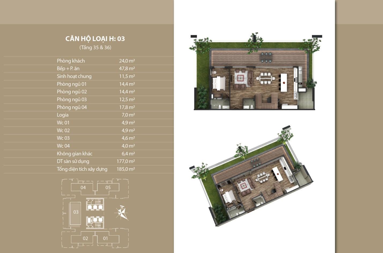 Thiết kế căn hộ 03 tầng 35 vs 36