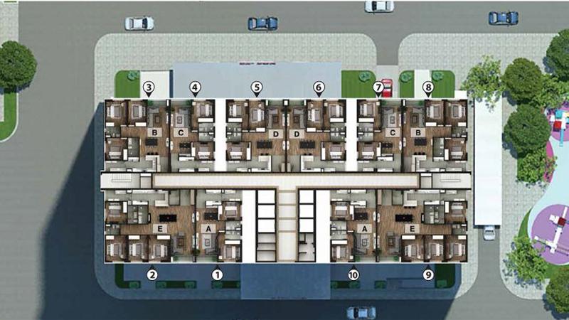 Mặt bằng thiết kế sàn N03T2 Ngoại Giao Đoàn Taseco Complex