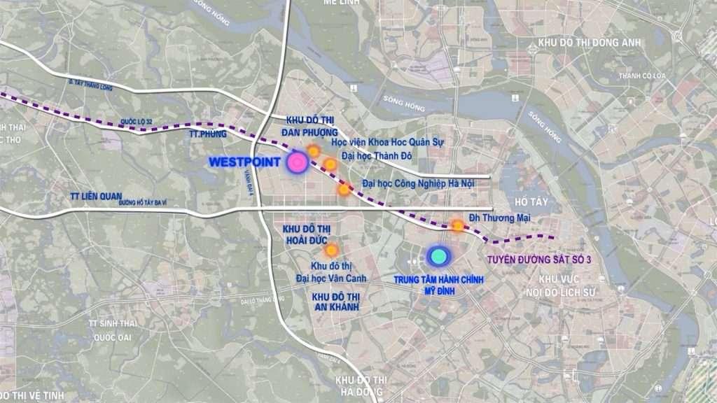 Sơ đồ vị trí dự án Nam 32