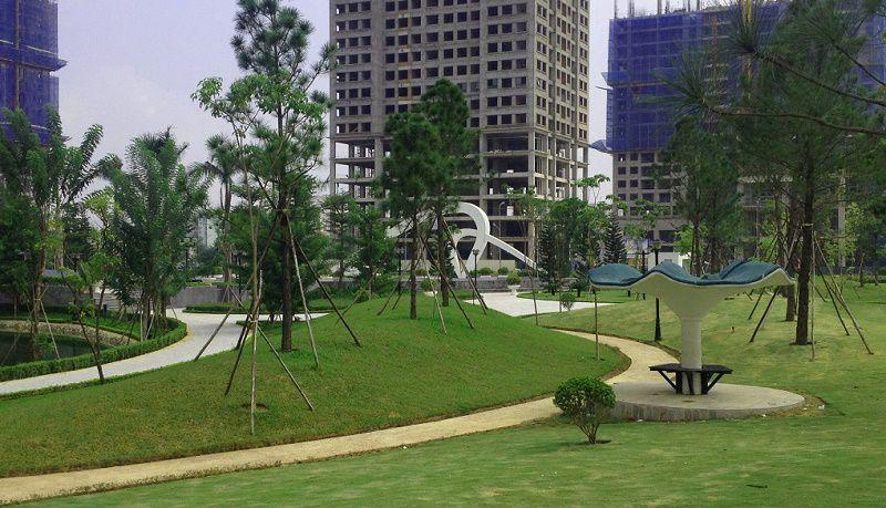 Khuôn viên xanh dự án