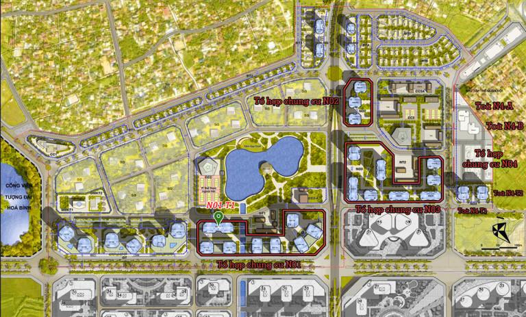 Vị trí dự án N01T1 Ngoại Giao Đoàn - Lạc Hồng Lotus 2