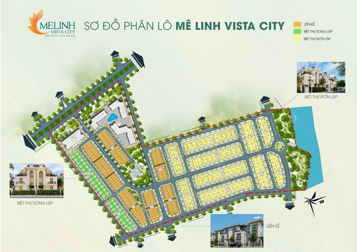 Sơ đồ phân lô Mê Linh Vista City