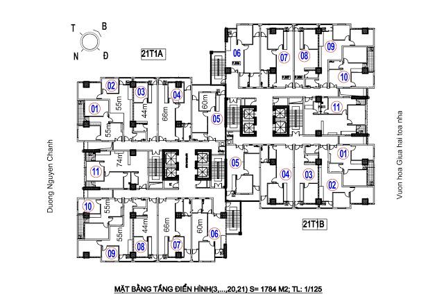 Thiết kế căn hộ Chung cư A14 Nam Trung Yên