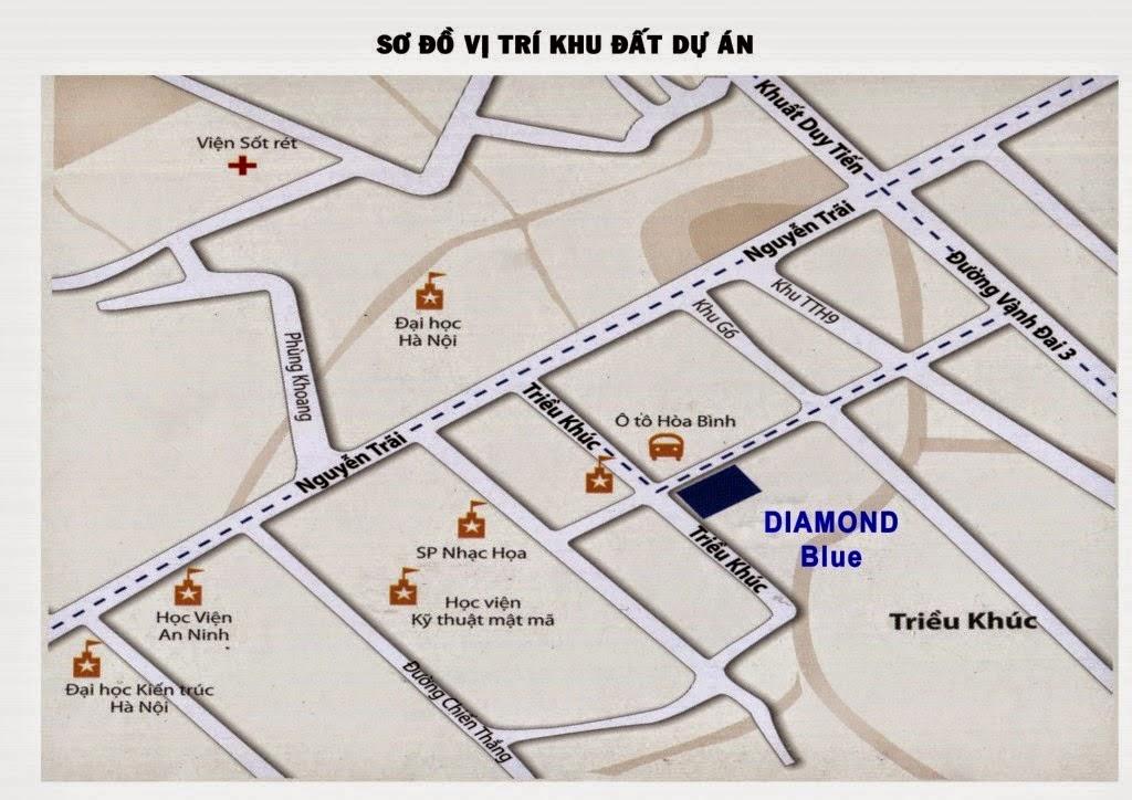 Sơ đồ vị trí khu đất dự án chung cư 69 Triều Khúc