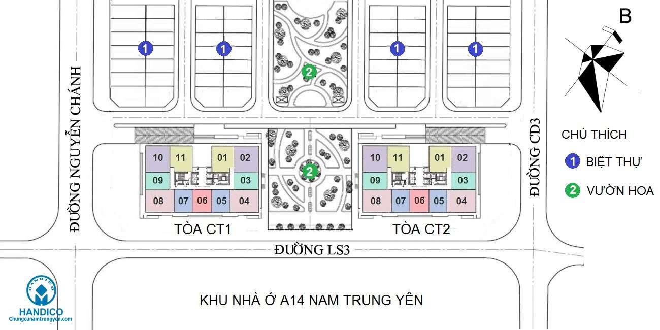Quy hoạch dự án A10 Nam Trung Yên