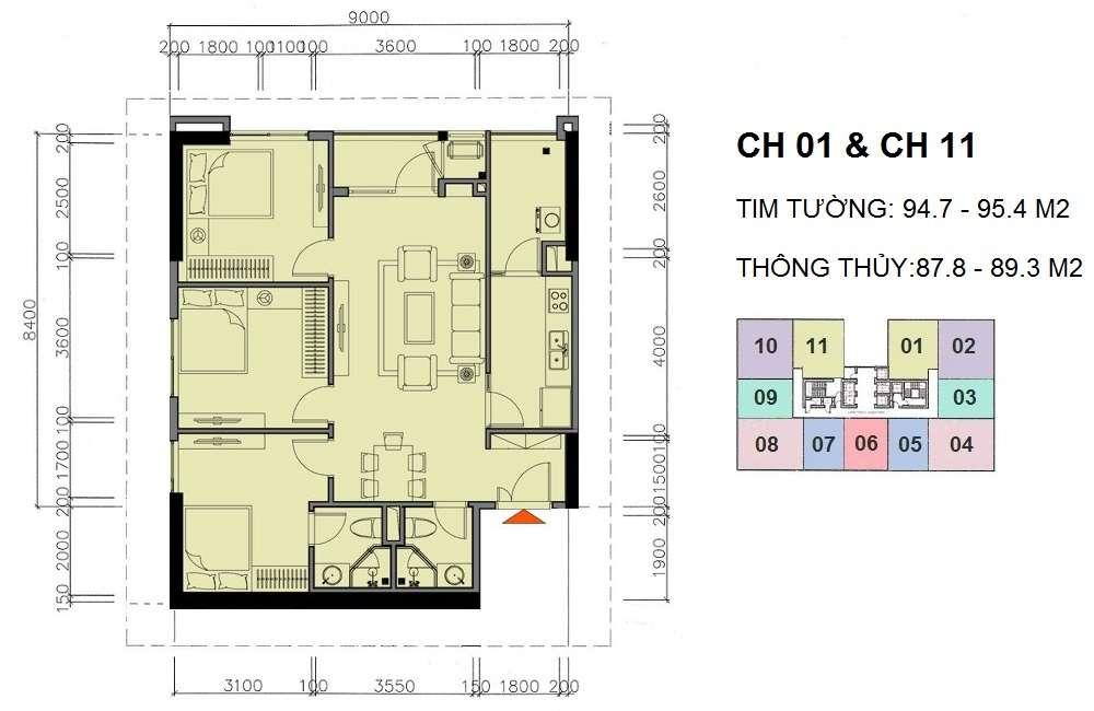 Thiết kế căn 01 -11